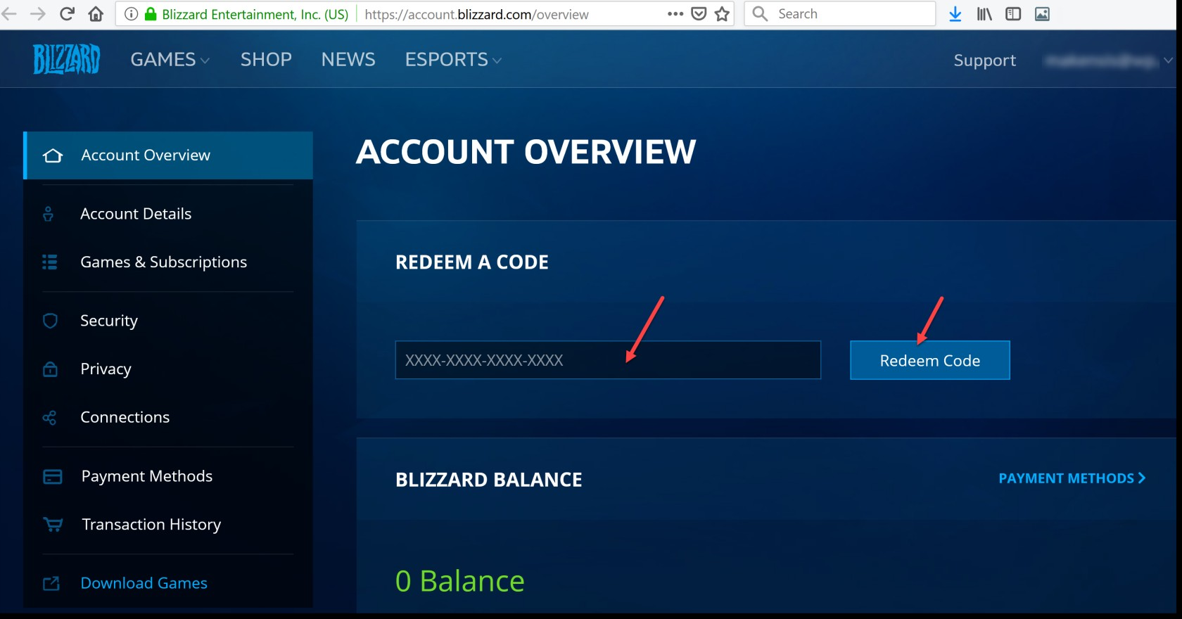 Activate a Product on Battle.net games