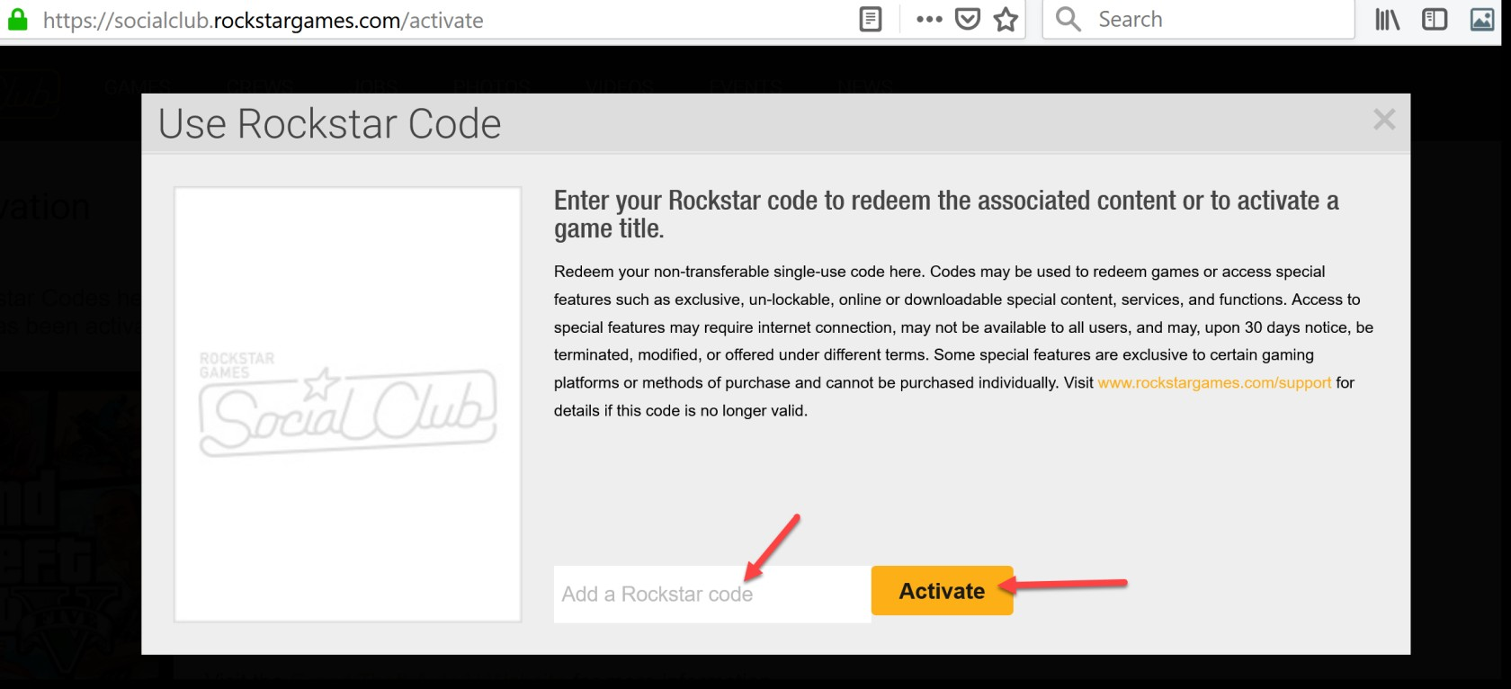 Activate a Product on Rockstar games